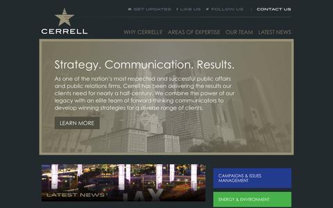 Screenshot of Home Page cerrell.com - Cerrell Associates - captured Oct. 2, 2014