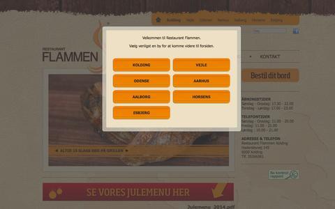 Screenshot of Home Page restaurant-flammen.dk - Restaurant Flammen - All you can eat buffet restaurant - captured Oct. 8, 2014