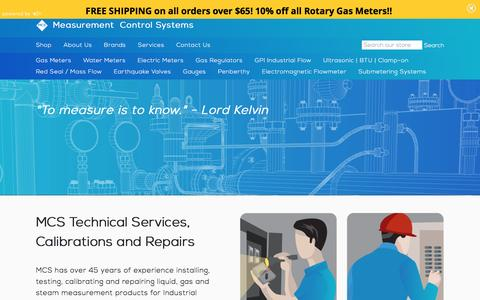 Screenshot of Services Page mcsmeters.com - Services – Measurement Control Systems - captured Feb. 12, 2016