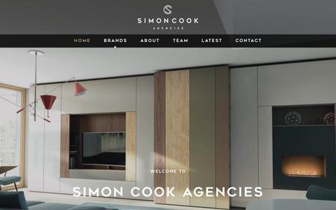 Screenshot of Home Page simoncookagencies.co.uk - Simon Cook Agencies - Luxury Furniture Brands - captured Aug. 13, 2016