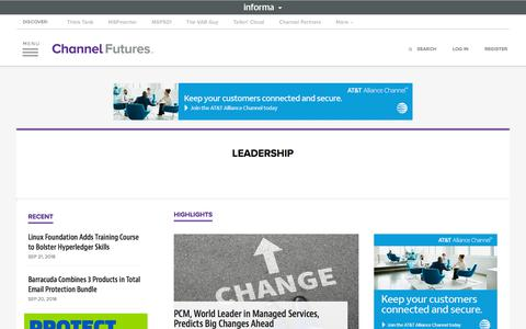 Screenshot of Team Page channelfutures.com - Leadership | Channel Futures - captured Sept. 22, 2018
