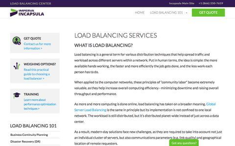 Cloud-based Load Balancing Services | Incapsula