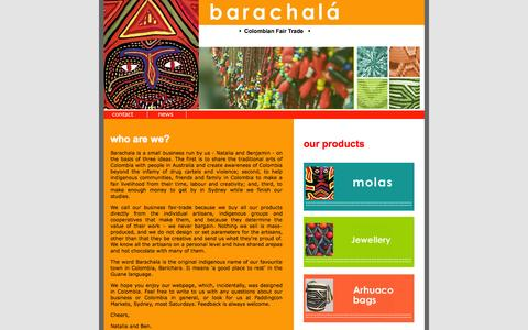 Screenshot of Home Page barachala.com - Barachala - captured Oct. 5, 2014