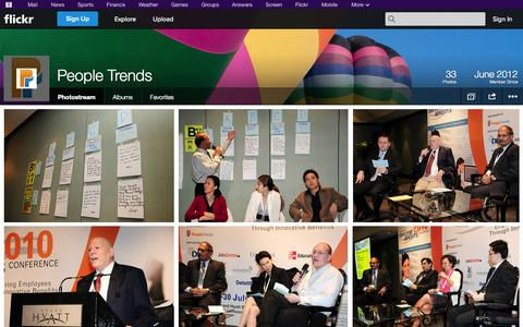 Screenshot of Flickr Page flickr.com - Flickr: People Trends' Photostream - captured Oct. 22, 2014