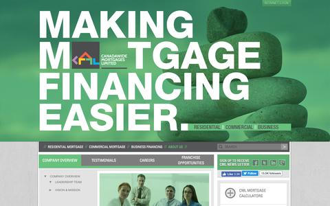 Screenshot of About Page canadawidemortgages.ca - Company Overview - captured July 12, 2017