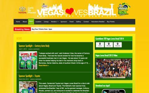 Screenshot of Press Page vegaslovesbrazil.com - News | Vegas Loves Brazil - Biggest Brazilian Festival in Nevada - captured Oct. 26, 2014