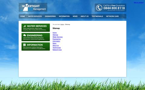 Screenshot of Site Map Page watertightmanagement.com - Sitemap – Watertight Management - captured Oct. 20, 2018
