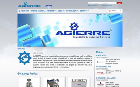 Screenshot of Home Page agierre.eu - www.agierre.eu - Home Page - captured Oct. 4, 2014