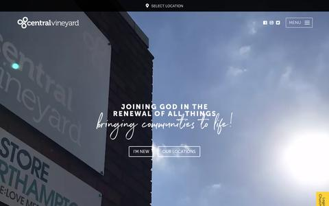 Screenshot of Home Page centralvineyard.co.uk - Central Vineyard - A Church in Northampton, Kettering & Wellingborough - captured Sept. 27, 2018