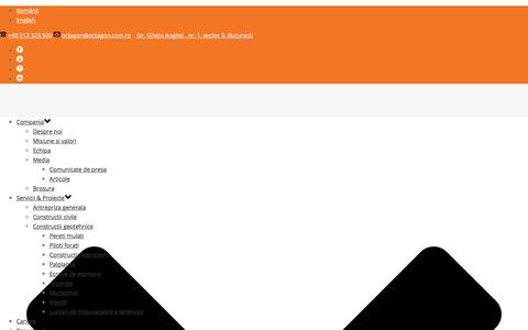Screenshot of Contact Page octagon.com.ro - Contact – Octagon Romania - captured Oct. 26, 2017