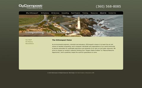 Screenshot of About Page o2compost.com - Composting - Let Us Show You How - O2 Compost - captured Sept. 30, 2014