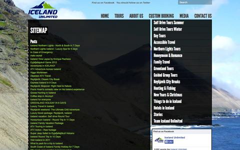 Screenshot of Site Map Page icelandunlimited.is - Sitemap « Iceland Unlimited Iceland Unlimited - captured Oct. 6, 2014
