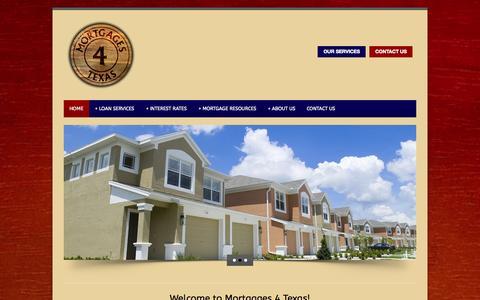 Screenshot of Home Page mortgages4texas.com - Mortgages 4 Texas | Mortgage Rates Houston - captured Sept. 30, 2014