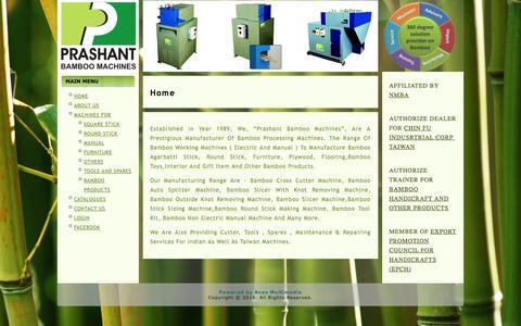 Screenshot of Home Page prashantbamboo.com - Home - captured Oct. 1, 2014