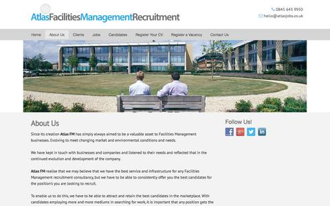 Screenshot of About Page atlas-facilities-management-recruitment.co.uk - About Us | Atlas Facilities Management Recruitment - captured Oct. 4, 2014