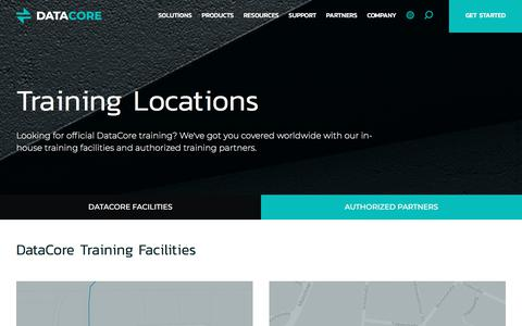 Screenshot of Locations Page datacore.com - Training Locations | DataCore - captured April 9, 2018