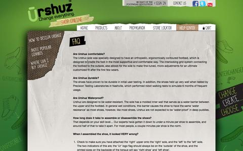 Screenshot of FAQ Page urshuz.com - Urshuz |  Frequently asked questions - captured Oct. 26, 2014