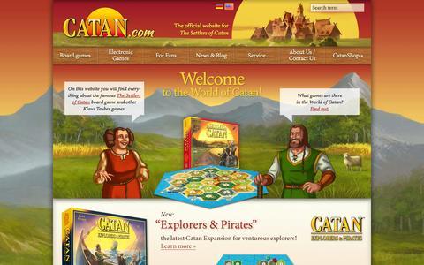 Screenshot of Home Page catan.com - Start page | Catan.com - captured Sept. 25, 2014