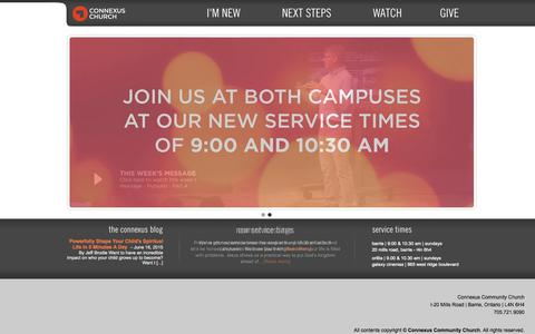 Screenshot of Home Page connexuscommunity.com - Homepage | Connexus Community Church - captured June 18, 2015