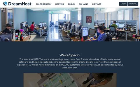 Screenshot of About Page dreamhost.com - DreamHost The Leader in Web Hosting and Cloud Storage Around the World – DreamHost - captured Sept. 16, 2014
