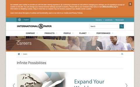 Screenshot of Jobs Page internationalpaper.com - Careers - Job Openings | International Paper - captured Nov. 19, 2019