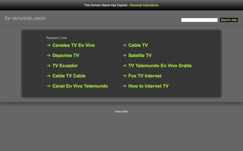 Screenshot of Home Page tv-envivo.com - Tv-Envivo.com - captured June 23, 2017