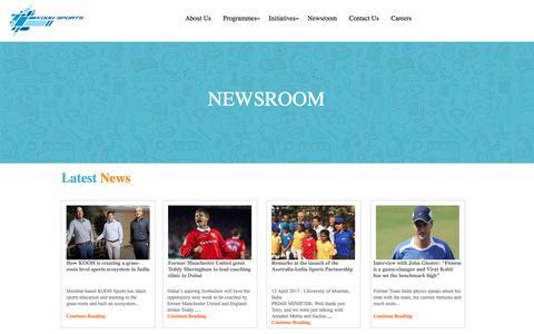 Screenshot of Press Page koohsports.com - KOOH Sports - Newsroom - captured Oct. 17, 2017