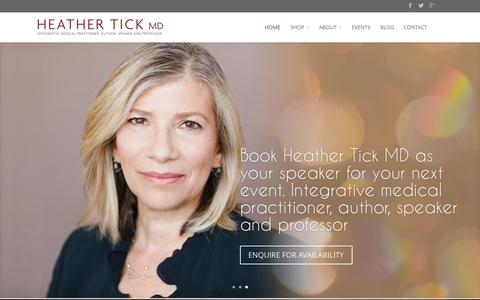 Screenshot of Home Page heathertickmd.com - Heather Tick | - captured Oct. 6, 2014