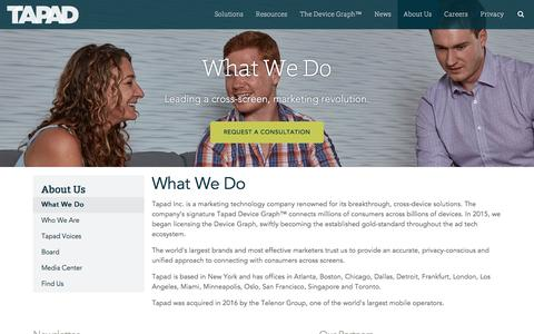 What We Do | Tapad