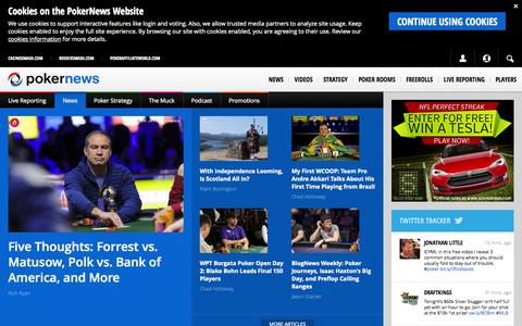 Screenshot of Home Page pokernews.com - Poker News, Online Poker Reviews & Bonuses | PokerNews - captured Sept. 18, 2014