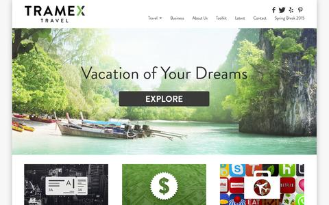 Screenshot of Home Page tramex.com - Tramex - Homepage - Tramex Travel - captured Oct. 7, 2014