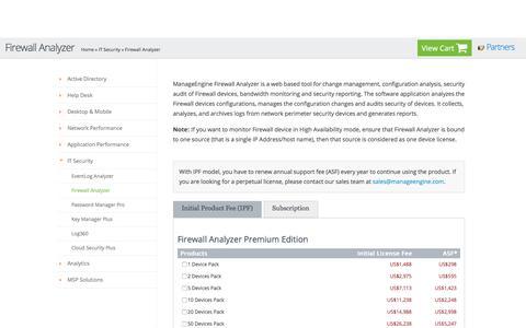 ManageEngine Firewall Analyzer Store