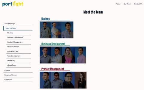 Screenshot of Team Page goportlight.com - Portlight - captured Oct. 8, 2014