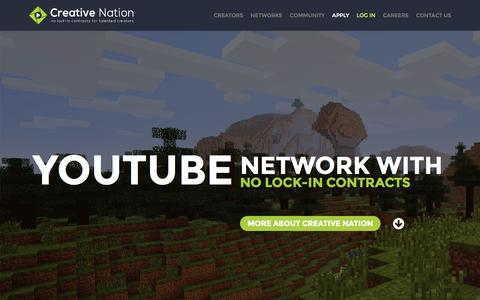 Screenshot of Home Page cnation.co - Creative Nation - captured Oct. 1, 2015
