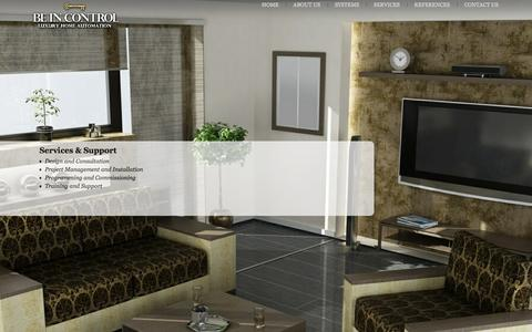 Screenshot of Services Page luxuryhomeautomation.co.za - BE IN CONTROL   Services - captured Feb. 7, 2016