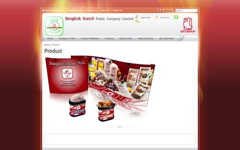 Screenshot of Products Page bangkokranch.com - Product - captured Oct. 27, 2014