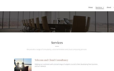 Screenshot of Services Page telenology.net - Services - captured Sept. 21, 2018