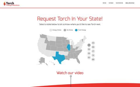 Screenshot of Locations Page torchenergy.com - Request For Torch Energy Solutions To Be In Your State! - captured Oct. 7, 2014