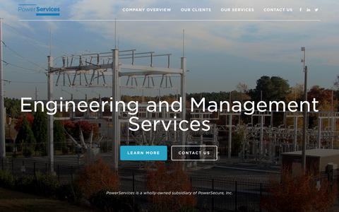 Screenshot of Home Page powerservices.com - PowerServices – Maximize Your  Operational Efficiency - captured July 21, 2018