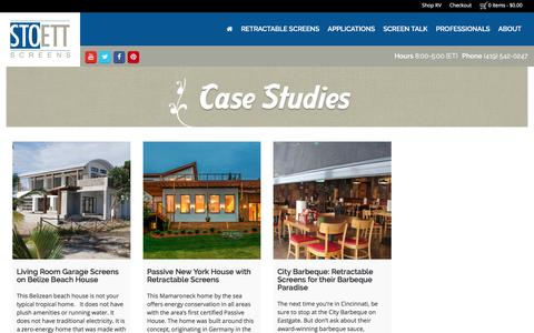 Screenshot of Case Studies Page stoett.com - Case Studies - Stoett Industries - captured Nov. 7, 2017