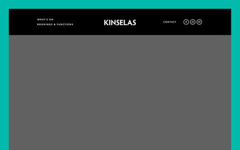 Screenshot of Home Page kinselas.com.au - Kinselas - captured Oct. 25, 2018