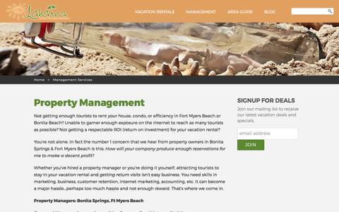 Screenshot of Team Page beachfloridarentals.com - Lahaina Island Accommodations Property Management - captured June 21, 2017