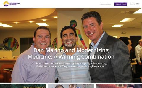 Screenshot of Blog modmed.com - Beyond EMR Blog | Modernizing Medicine | Modernizing Medicine - captured June 16, 2015