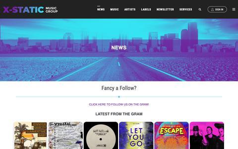 Screenshot of Press Page x-staticmusicgroup.com - News | X-Static Music Group - captured Nov. 5, 2018