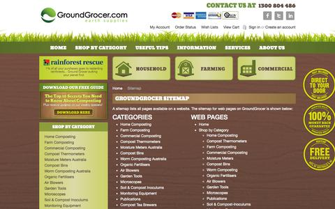 Screenshot of Site Map Page groundgrocer.com - GroundGrocer Sitemap - captured Sept. 23, 2014