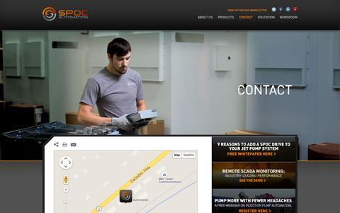 Screenshot of Contact Page spocautomation.com - Contact - SPOC AutomationSPOC Automation - captured Aug. 2, 2015