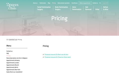 Screenshot of Pricing Page 2passclinic.com - Pricing « 2pass Clinic - The Magic of Transition - captured April 7, 2017