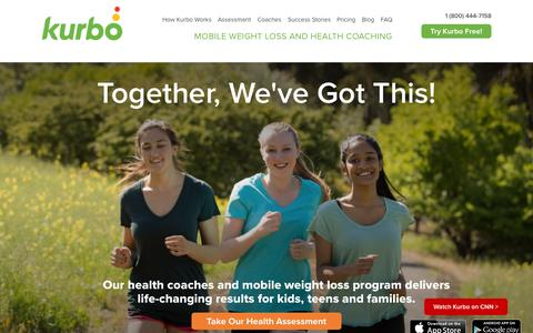 Screenshot of Home Page kurbo.com - Weight Loss for Teens   Weight Loss for Kids - Kurbo Health - captured Sept. 20, 2015