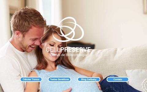 Screenshot of Home Page cellpreserve.com.br - Cellpreserve   Centro de Biotecnologi - captured July 11, 2016