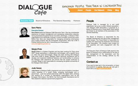 Screenshot of Team Page dialoguecafe.org - Dialogue Café | People - captured Aug. 6, 2018